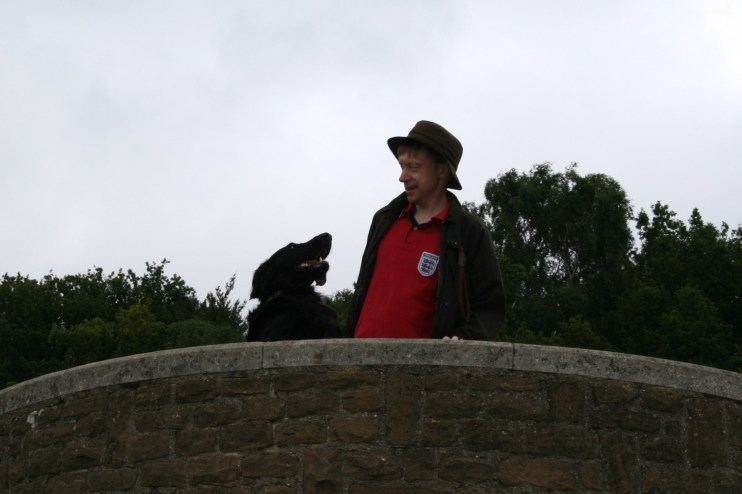 Daddy's Boy. Oscar and John looking over the panorama.