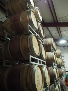 Californian and French white oak barrels for ageing wine. They cost £680 each but, with import tax, that rises to £1,000.