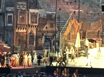 They used real horses and donkeys in Carmen. At times this caused some consternation
