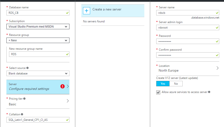 Running RDS 2016 TP5 Connection Broker Database in Azure AD