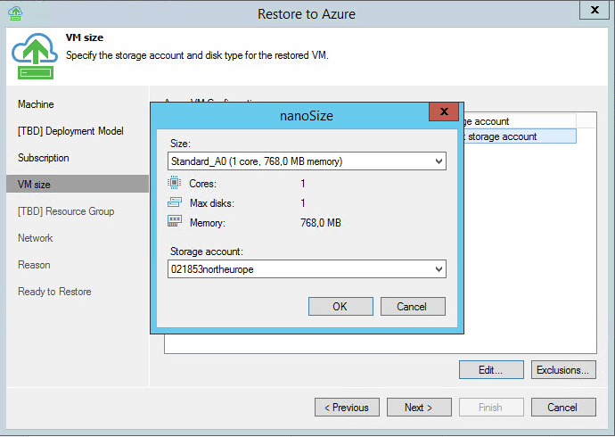 Veaem backup and replication 9 5 with azure direct restore
