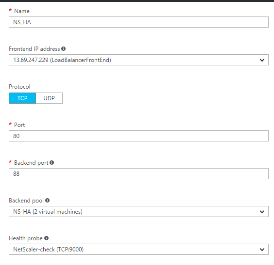 Setting up High-availability NetScaler in Microsoft Azure