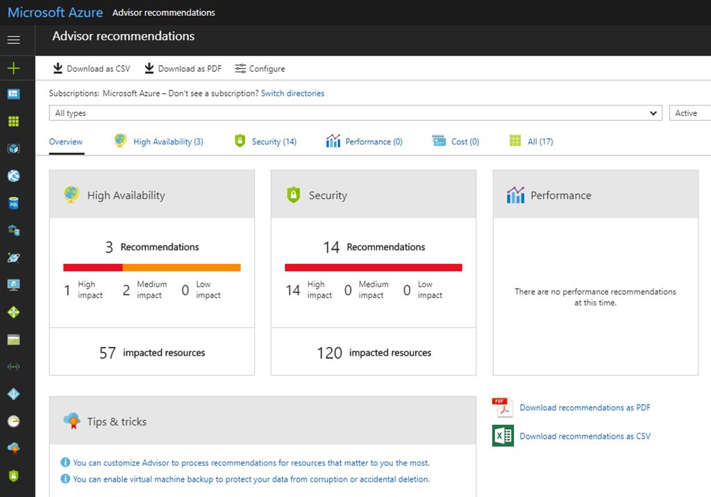 Accessing Azure Advisor using REST API | Marius Sandbu