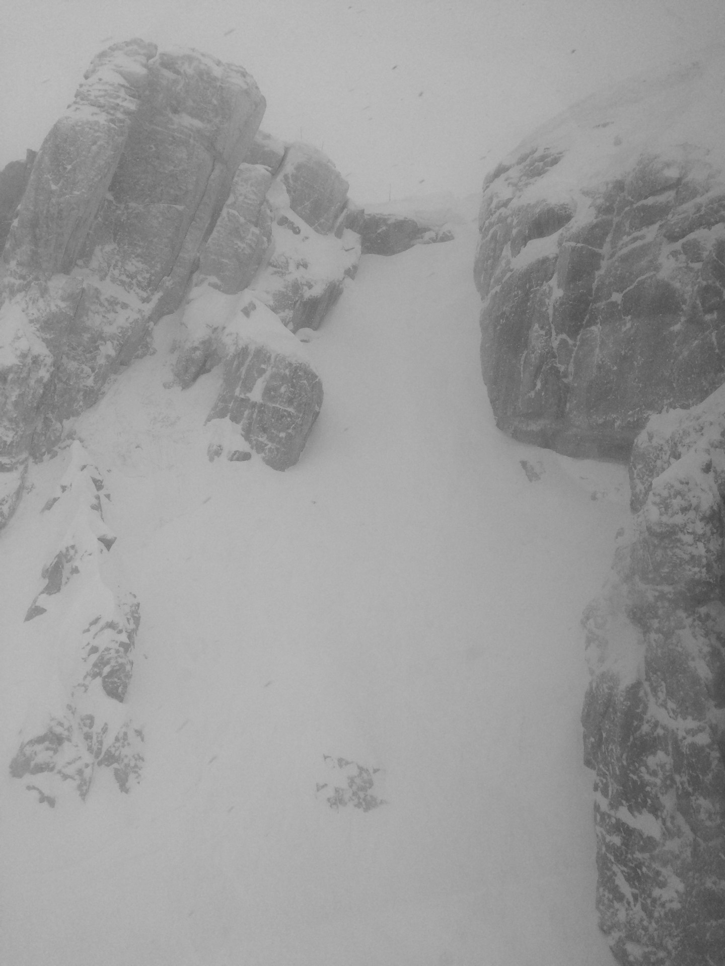 Corbet's Couloir from Jackson Hole's tram