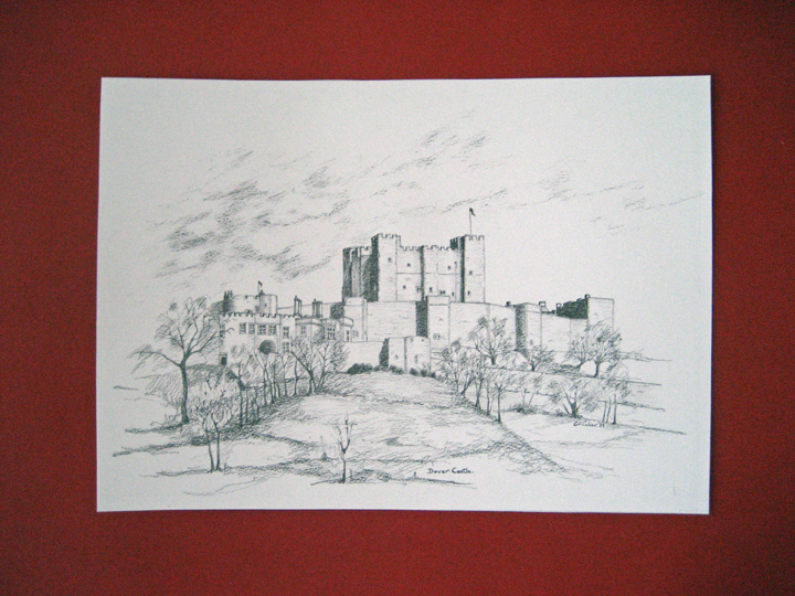 """From Blacksburg, VA titled """"Dover Castle"""" and dated '89"""