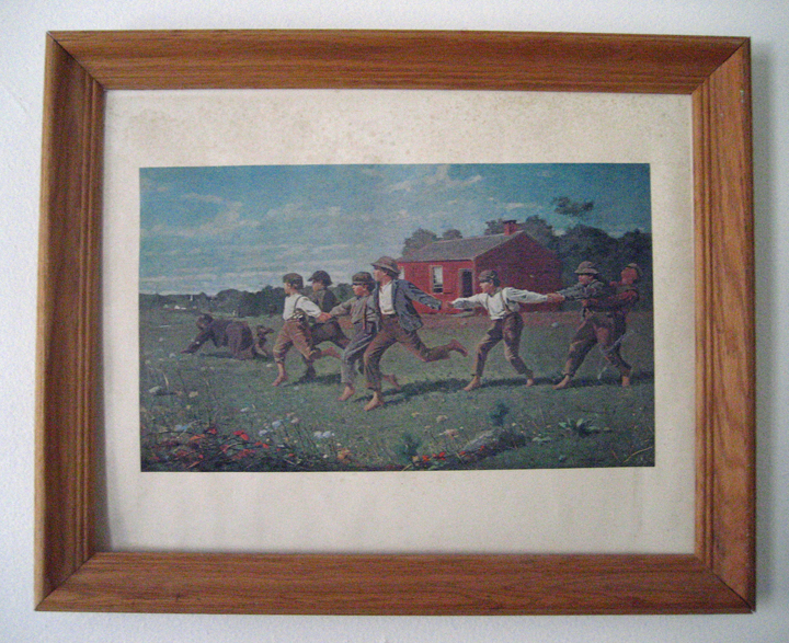 A Winslow Homer print from the Met--looks pretty ancient...  also found in Blacksburg