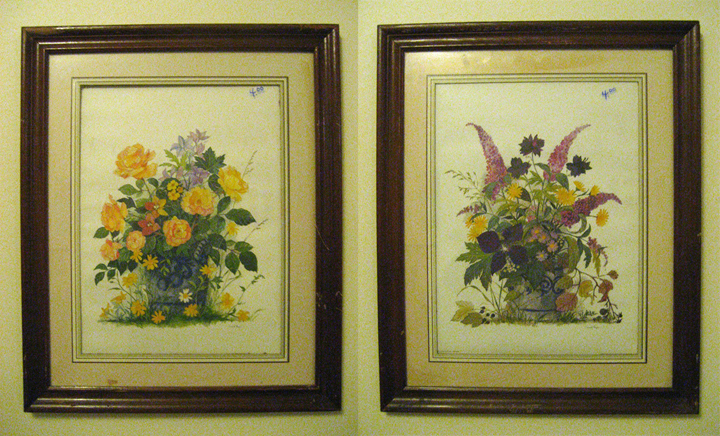 this pair came from a thrift store in Blacksburg VA, both by the same artist, printed in Sweden, 1980