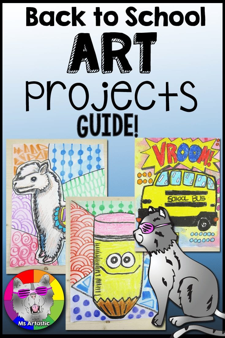 Here are some art project tutorials that you can use in your classroom for Back to School success! They are all complete with the step-by-steps, student handouts, reflections, assessment, rubrics, and examples. | Art Teacher | Art teacher Tips | Back to School Art |