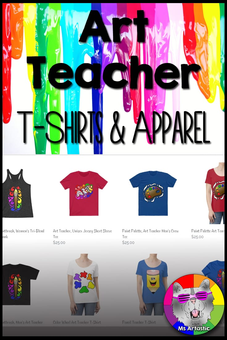 Ms Artastic Collection of Teacher T-shirts and Apparel   Teacher Shirts   Art Teacher Shirts   Teacher Mugs