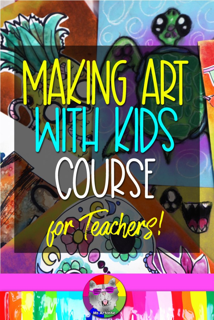 TheMaking Art with Kids Course for anyone who wants to teach art to kidswhether you're aTeacher, Homeschool Parent, or a Studio Instructor!This course will provide you with30 Art Lessonsthat will build your art teaching confidence, encourage creativity, and engage students. These are lessons are ideal for students between grades 4 and 7 as the techniques and imagery is best suited for this age group.