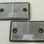 CLEAR REFLECTORS 75MM X 40MM X 7MM