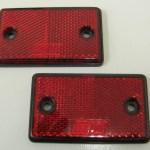 RED REFLECTORS 75MM X 40MM X 7MM