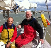 David Holden with Robin Knox-Johnston in Queenborough