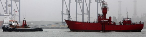 Lightship under tow