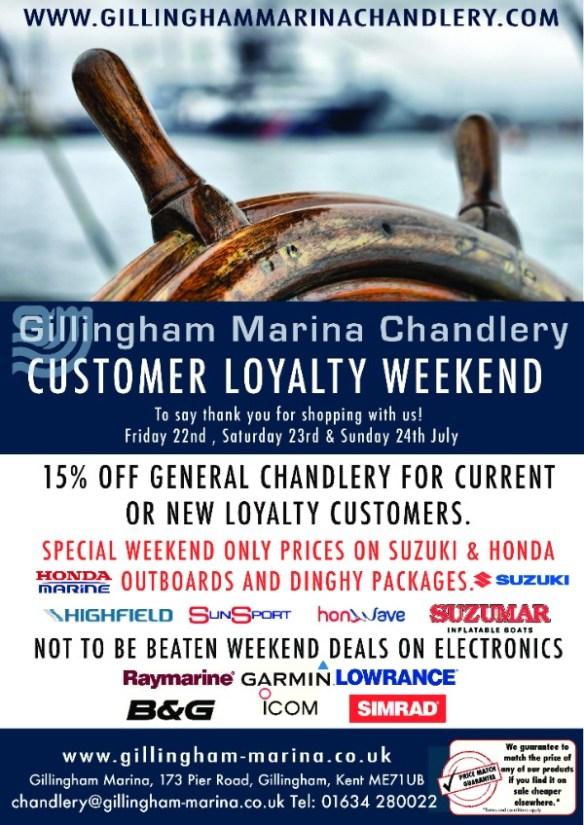 Gillingham Marina Loyalty Weekend