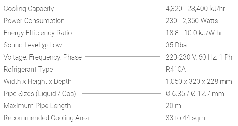 Carrier Crystal Inverter Hi-Wall – 2.5HP