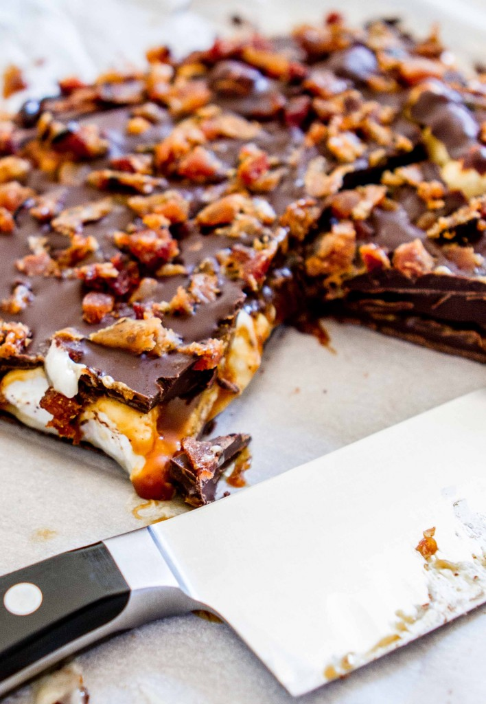 Chocolate Bacon Mallow Bark