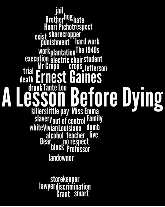 essays on the book a lesson before dying Isu journal entry 1: a lesson before dying the main theme of the novel a lesson before dying revolves mainly around the issue of racism, between the black and.