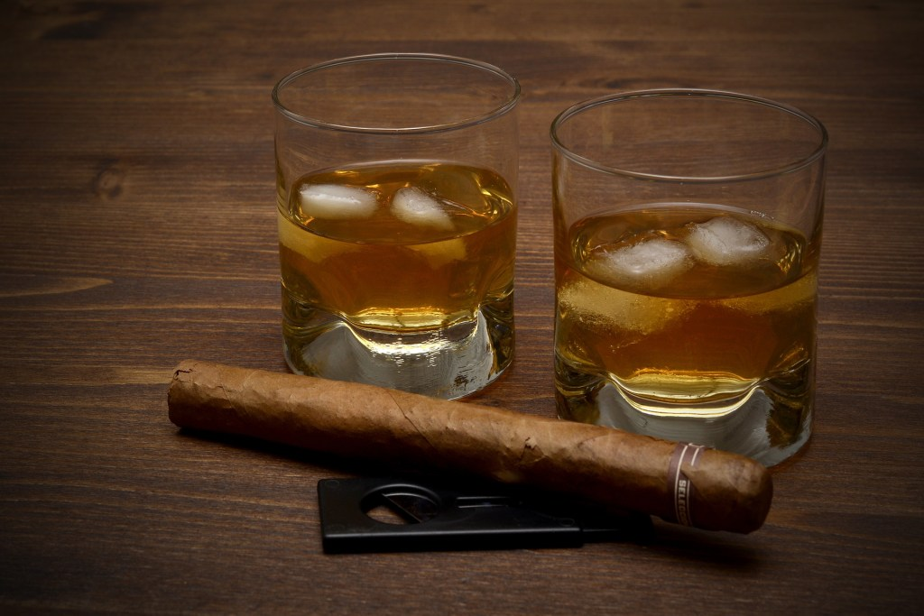 Rock and rye and a cigar