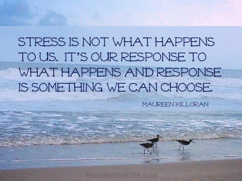 Stress Quote by Maureen Killoran