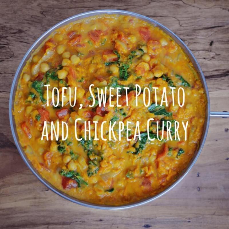 Tofu, Sweet Potato and Chickpea Curry