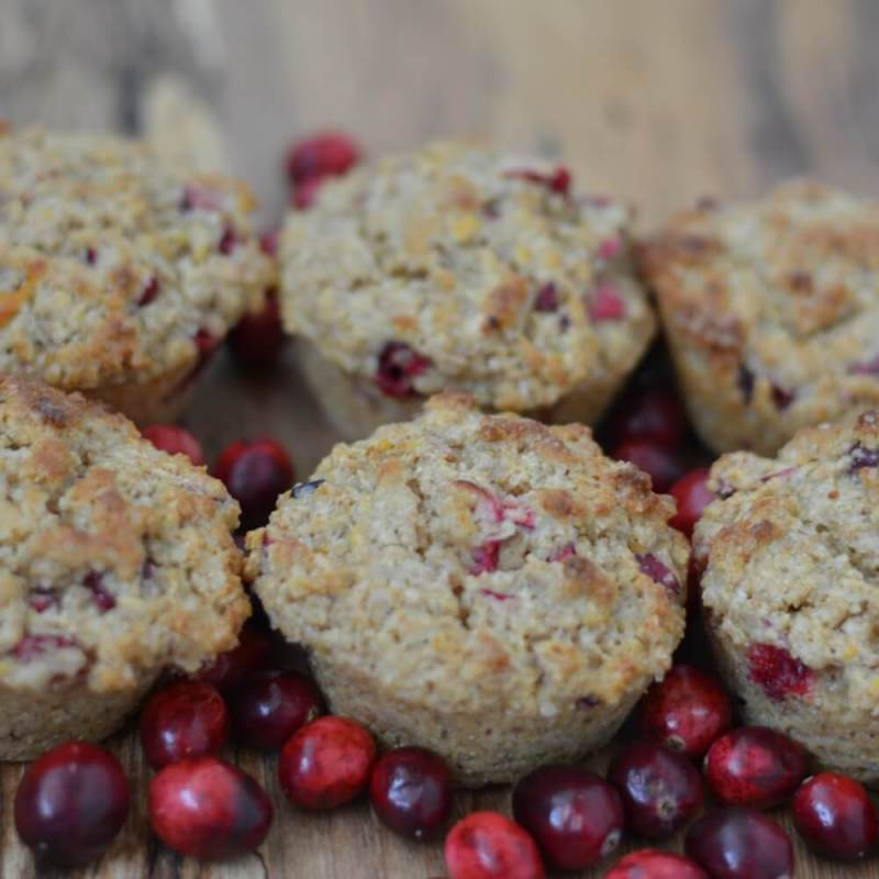 Cranberry Whole Grain Muffins