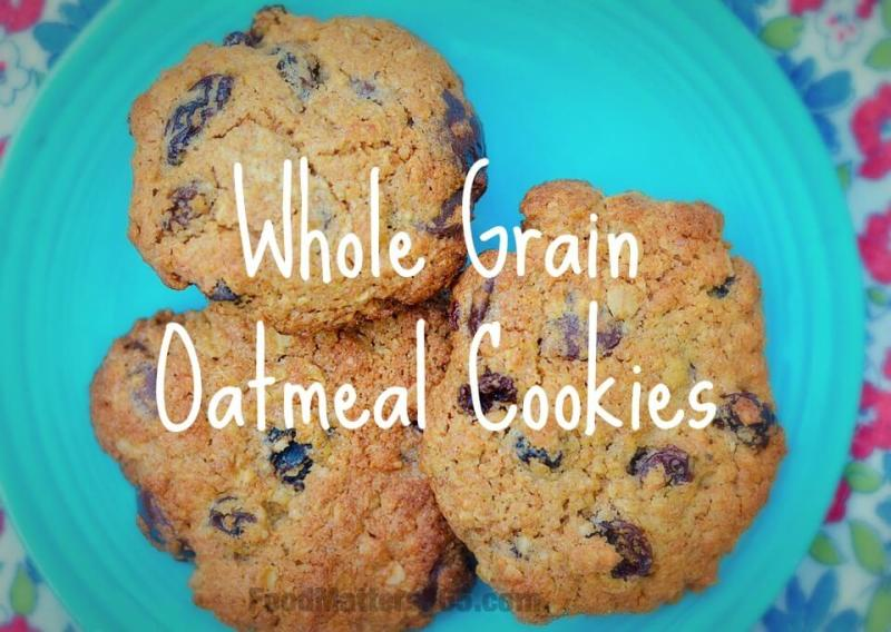 Whole Grain Oatmeal Cookies