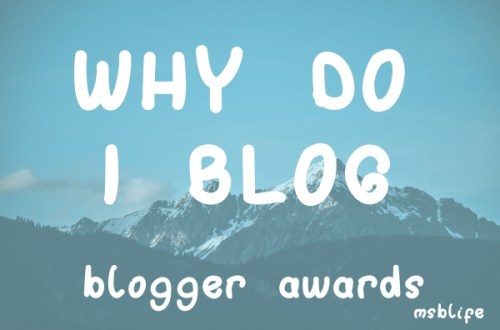 Why Do I Blog caption with moutain background and blue filter