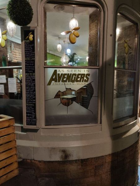 Avengers Infinity War Window in Edinburgh