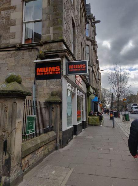 Outside Mum's Great Comfort Food in Edinburgh