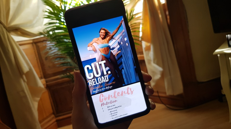 Natacha Oceane's Cut Reload Workout Programme PDF on OnePlus 6T