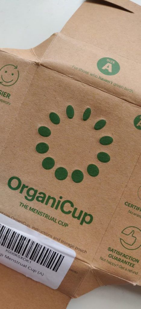 Front of Organicup Box