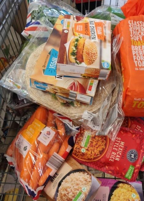 My vegan shopping trolley