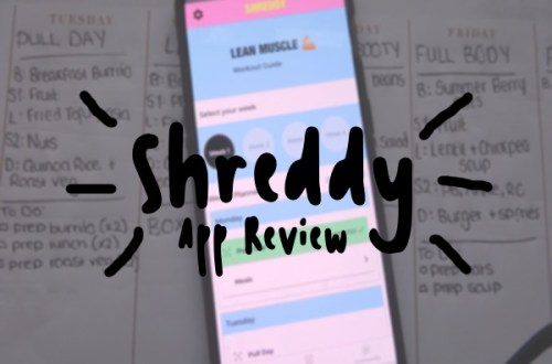 Shreddy App Review text with black lines