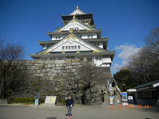 Me in front of Osaka Castle