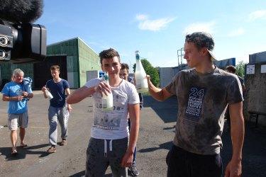Die Sieger mit alkoholfreiem Sekt!
