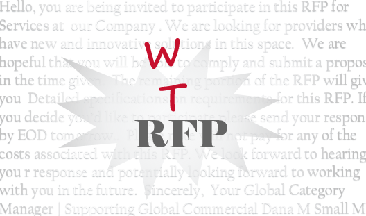 The Prequel - Gone with the RFP