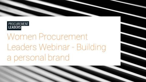 Women Procurement Leaders Event: Building Your Personal Brand Webinar 7/16 - Register NOW! 1