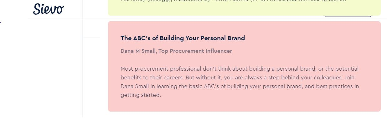 My Epic Keynote Speaking Event! Join me at SievoFriends Americas on 9.15.20 - Learn the ABC's of Building Your Personal Brand 1