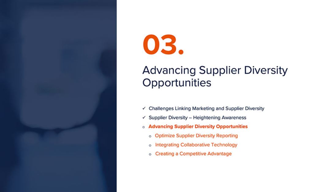 Marketing and Supplier Diversity - Building a Coordinated Approach (3 Part Video Series) 2