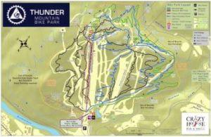 Thunder Mountain Bike Park Trail Map