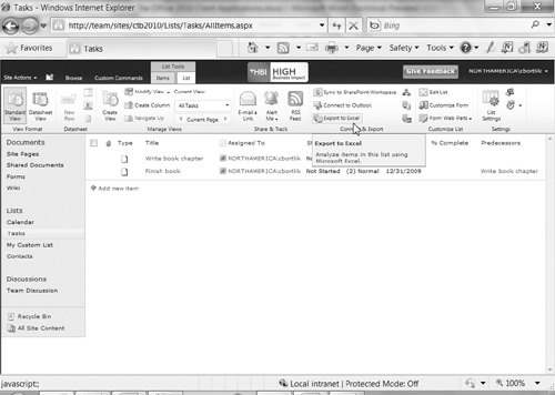 SharePoint 2010 : Office 2010 Client Applications (part 2