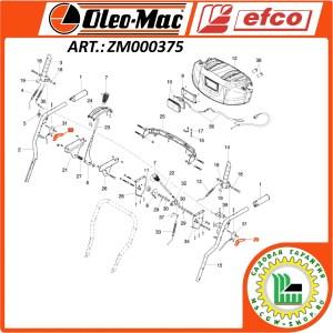 Курок отключения гусеницы / колеса Efco / Oleo-Mac ZM000375