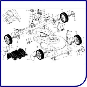 Колеса, трансмиссия, привод газонокосилки HUSQVARNA R 152SV