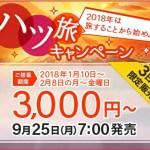 片道3000円~スカイマーク「ハツ旅キャンペーン」