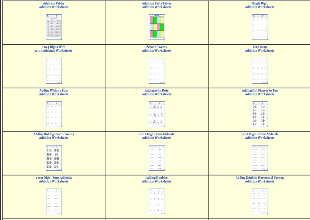Free Maths Worksheets For Teachers