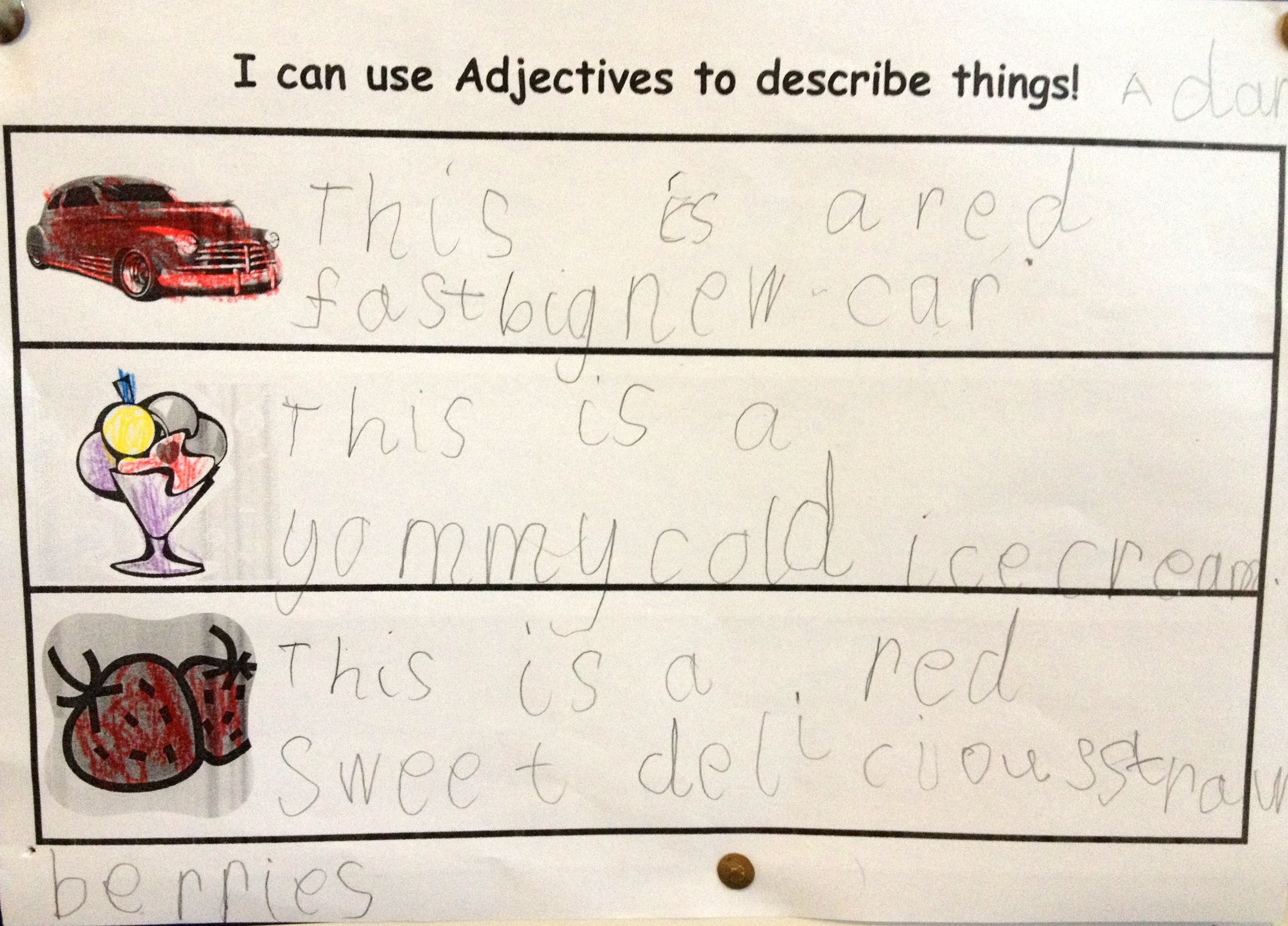 Printables Of Literacy Adjectives