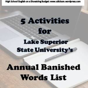 Activities for LSSU's Annual Banned Words List v2