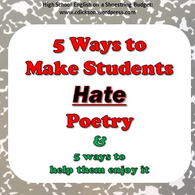 Make Students Hate Poetry