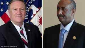 البرهان وبومبيو يبحثان ترتيبات رفع السودان من قائمة الإرهاب
